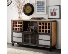 Enfield Jali Bar Cabinet - Wooden/Iron