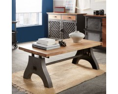 Enfield Industrial Coffee Table - Wooden/Iron