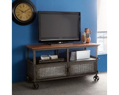 Enfield Jali Media Unit Table - Wooden/Iron