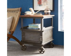 Enfield Jali Side Table - Wooden/Iron