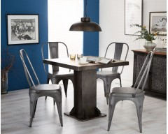 Enfield Industrial Square Dining Table - Wooden/Iron