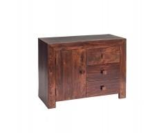 Tanda Mango (Dark) Solid Hardwood 3 Drawers 1 Door Sideboard