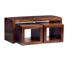 Tanda Mango (Dark) Solid Hardwood Coffee Table Set