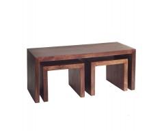 Tanda Mango (Dark) Solid Hardwood Coffee Table