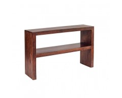 Tanda Mango (Dark) Solid Hardwood Console Table with Shelf