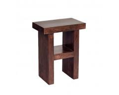 Tanda Mango (Dark) Solid Hardwood Corner H Shape Table