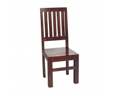 Tanda Mango (Dark) Solid Hardwood Dining Chair High Slat Back