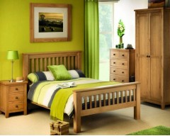 Arizona 5ft Solid Oak Bed Frame