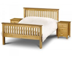 Madrid Pine 4ft6 High Footend Bed Frame