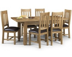 Alexis Butterfly Extending Oak Dining Table & 4 Chairs