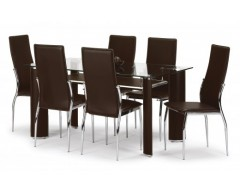 Brent Glass Dining Table & 4 chairs