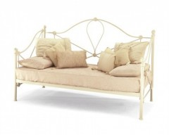 Lycan ivory gloss day bed with guest bed