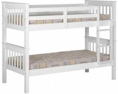 3ft Nebula Kids Bunk Bed - White