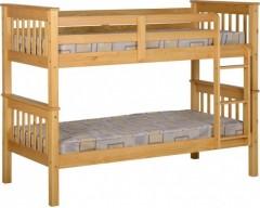 3ft Nebula Kids Bunk Bed - Pine