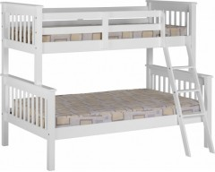 Nebula Kids Triple Bunk Bed - White