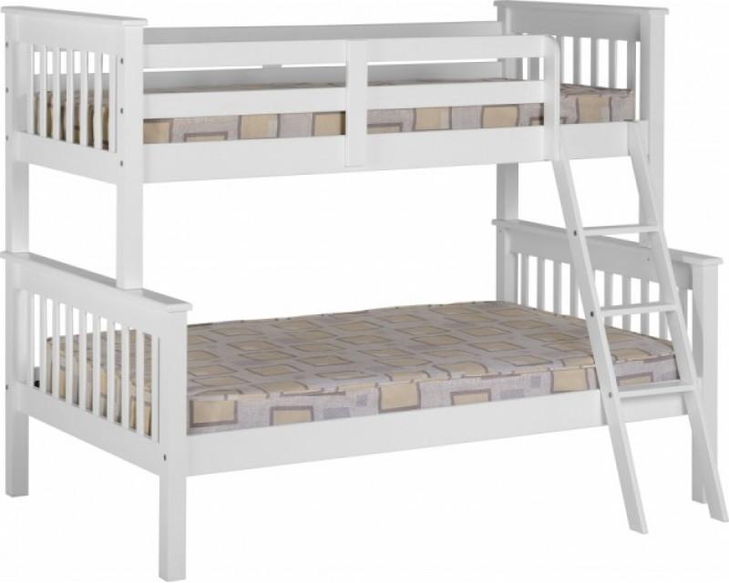 Nebula Kids Triple Bunk Bed - White