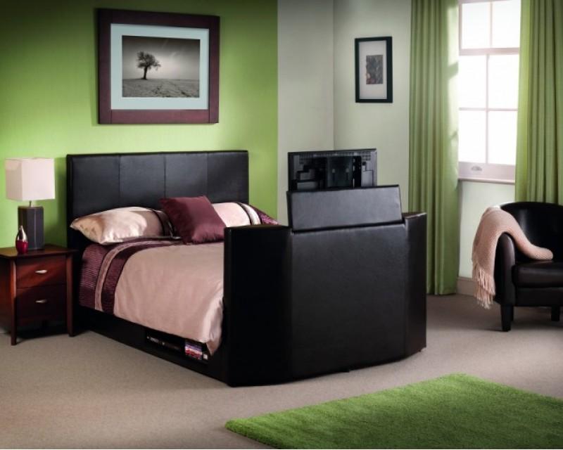 Optika Brown 4ft6 TV Bed Frame