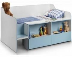 Sandy Low Sleeper Bed - Pink/Blue