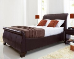 Kaydian Bamburgh 6ft Real Leather Bed Frame