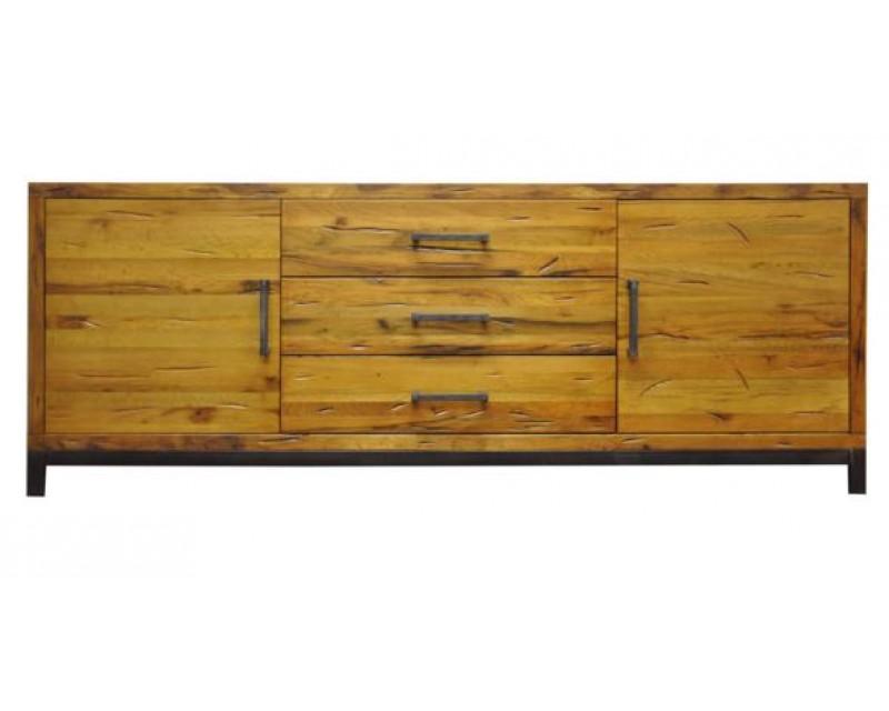 Ashton 2 Door 3 Drawer Sideboard in Oak with Metal