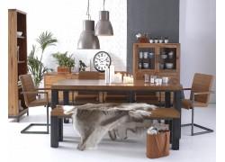 Ashton 1.8m Table in Oak with Metal Frame