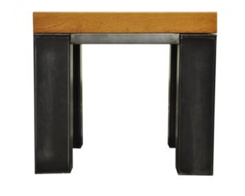 Ashton Side Table in Oak with Metal