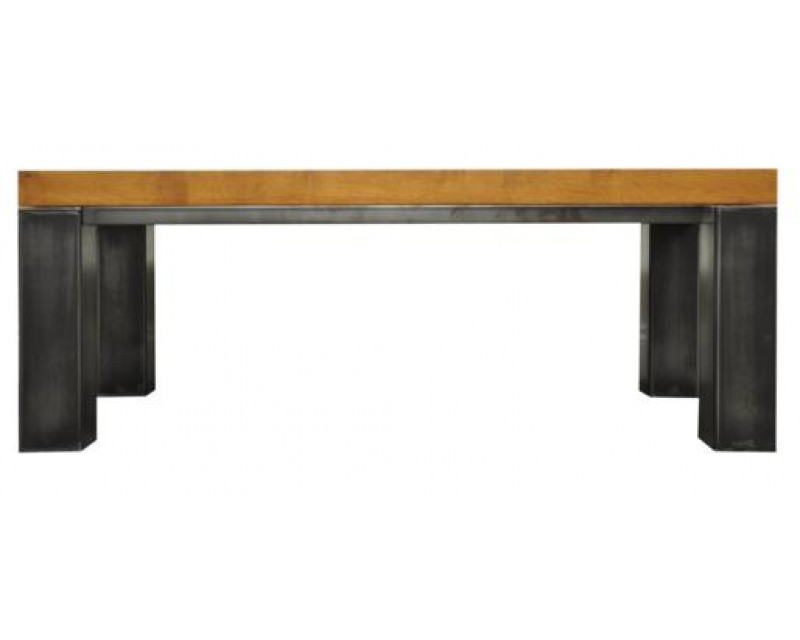 Ashton Small Coffee Table in Oak with Metal