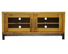 Ashton Standard TV Unit in Oak with Metal