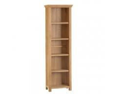Corby Oak Large Narrow Bookcase