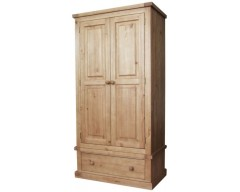Carmen 2 Door 1 Drawer Wardrobe in Pine
