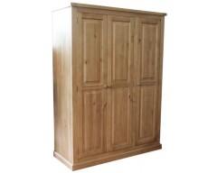 Carmen 3 Door Wardrobe in Pine
