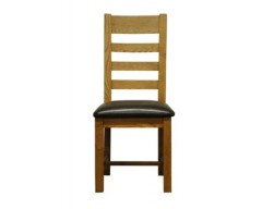 Langdon Ladder back Chair Oak with PU Seat