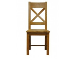 Langdon Cross Back Chair in Oak