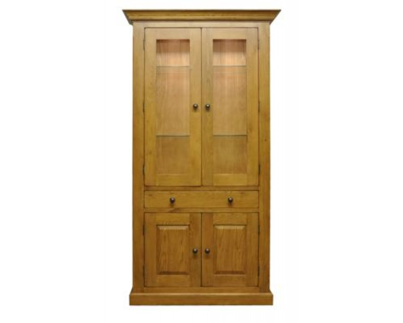 Langdon Display Cabinet with Lights in Oak
