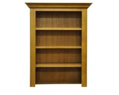 Langdon Small Wide Bookcase in Oak