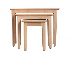 Normandy Oak Nest of Three Tables