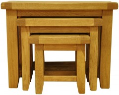 Sloane Oak Nest of Three Tables