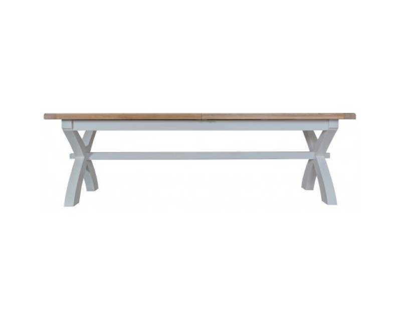Trieste 2.5m Cross Leg Extending Dining Table