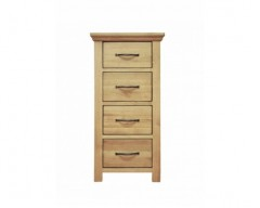 Windsor Solid Oak 4 Drawer Narrow Chest