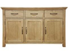 Windsor Solid Oak 3 Door Sideboard
