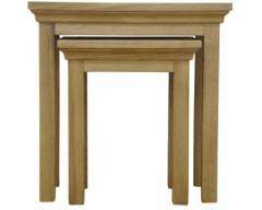 Windsor Oak Nest of 2 Tables