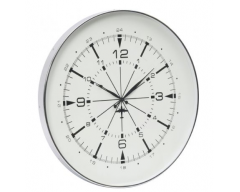 Nickel Aviator Wall Clock - Small
