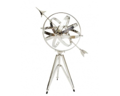 Armillary Large Nickel Plated Tripod Base
