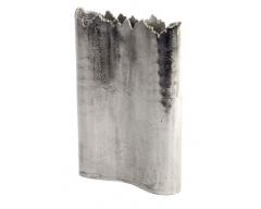 Broken Edged Aluminium Vase Large