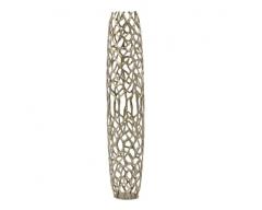 Gold Coral Cage Vase Textured Aluminium Large