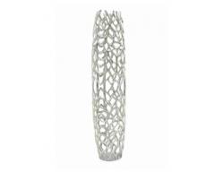 Gold Coral Cage Vase Textured Aluminium Small
