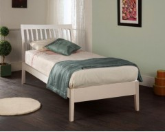 Amy 4ft6 White Bed Frame