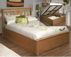 Chamonix 4ft6 American Oak Ottoman Bed Frame