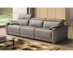 Eridano 3 Seater Italian Leather Sofa