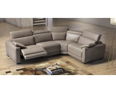 Eridano Italian Leather Corner Sofa